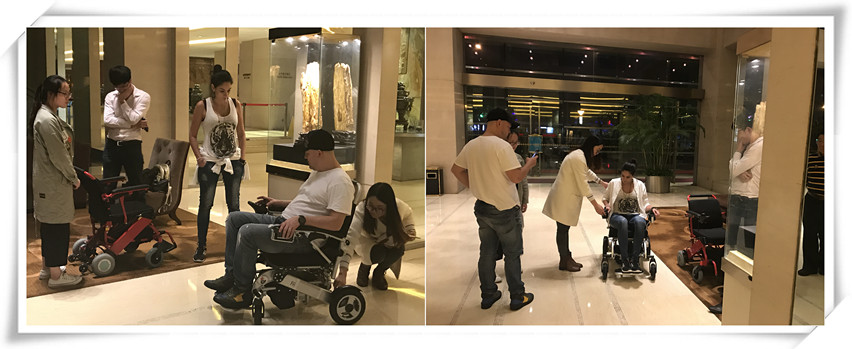 Colombian Customers Visit Suzhou Wofftown Especially for Lightweight Motorized Portable Electric Wheelchair