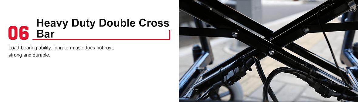 electric wheelchair double cross bar