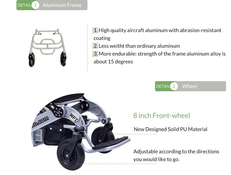 5 Wofftown folding electric wheelchair wheel